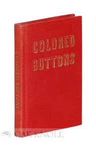 COLORED BUTTONS: A BOOK OF POETRY FOR CHILDREN. June M. F. Wildeman