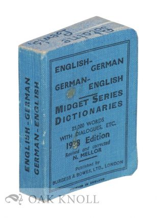 MIDGET DICTIONARIES ENGLISH-GERMAN GERMAN-ENGLISH.
