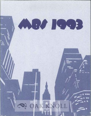 MBS 1993: CATALOG MINIATURE BOOK COMPETITION.