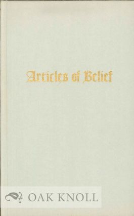 ARTICLES OF BELIEF. Benjamin Franklin