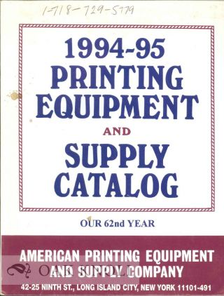 AMERICAN PRINTING EQUIPMENT & SUPPLY CO. 1994-95 PRINTING EQUIPMENT AND SUPPLY CATALOG