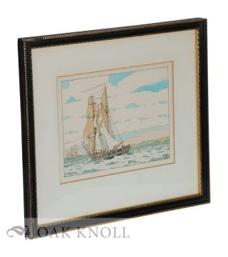 Color etching of sailing vessels. R. Ruzicka.