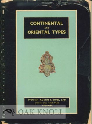 CONTINENTAL AND ORIENTAL TYPE LIST. Austin