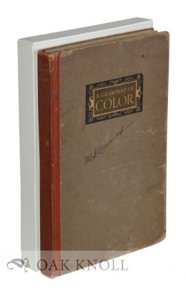 GRAMMAR OF COLOR, ARRANGEMENTS OF STRATHMORE PAPERS IN A VARIETY OF PRINTED COLOR COMBINATION...
