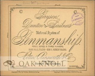 PAYSON, DUNTON AND SCRIBNER'S NATIONAL SYSTEM OF PENMANSHIP