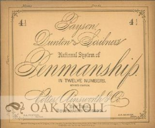 PAYSON, DUNTON AND SCRIBNER'S NATIONAL SYSTEM OF PENMANSHIP IN TWELVE NUMBERS