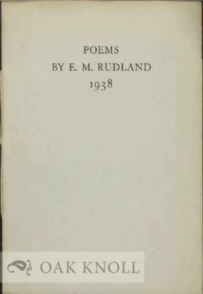 MRS. NEVILLE CHAMBERLAIN AND OTHER POEMS. E. M. Rudland.
