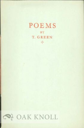 POEMS. T. Green.