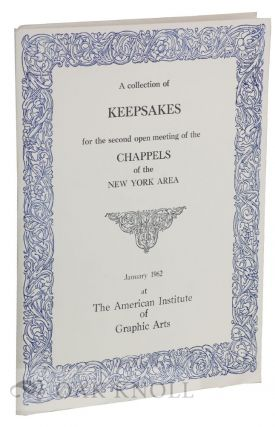 COLLECTION OF KEEPSAKES FOR THE SECOND OPEN MEETING OF THE CHAPPELS OF THE NEW YORK AREA.