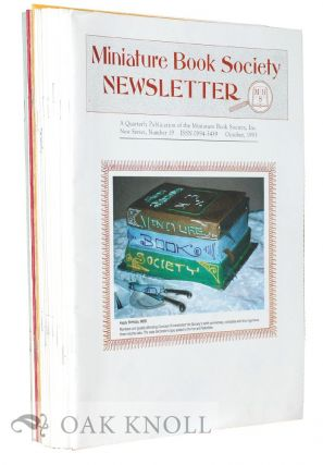 THE MINIATURE BOOK SOCIETY NEWSLETTER.