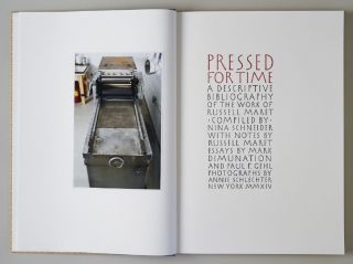 PRESSED FOR TIME: A DESCRIPTIVE BIBLIOGRAPHY OF THE WORK OF RUSSELL MARET