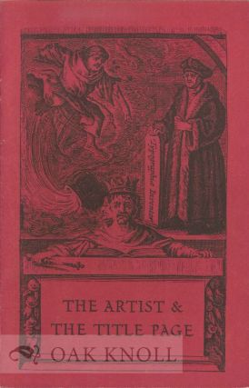 THE ARTIST & THE TITLE PAGE