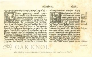 AN INTRODUCTION TO THE KNOWLEDGE OF RARE AND VALUABLE EDITIONS OF THE GREEK AND LATIN CLASSICS TOGETHER WITH AN ACCOUNT OF POLYGLOT BIBLES, GREEK BIBLES AND GREEK TESTAMENTS; THE GREEK FATHERS, AND THE LATIN FATHERS.