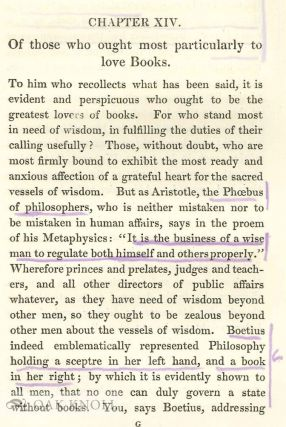 PHILOBIBLON, A TREATISE ON THE LOVE OF BOOKS.