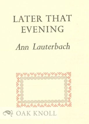 LATER THAT EVENING.