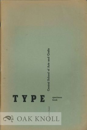 TYPE SPECIMEN BOOK. London County Council