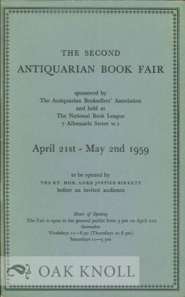 THE SECOND ANTIQUARIAN BOOK FAIR.
