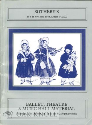 BALLET, THEATRE AND MUSIC-HALL MATERIAL
