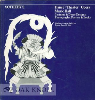 DANCE THEATRE OPERA MUSIC HALL: COSTUME AND DECOR DESIGNS, BOOKS, POSTERS, AND PHOTOGRAPHS