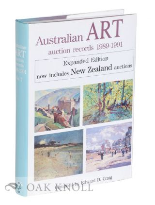 AUSTRAILIAN ART AUCTION RECORDS 1989-1991. Edward D. Craig, compiler.