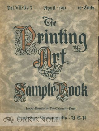 THE PRINTING ART SAMPLE BOOK.