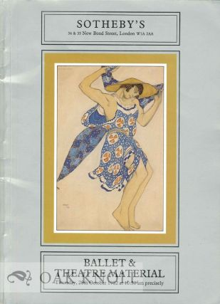 CATALOGUE OF BALLET AND THEATRE MATERIAL. Sotheby Parke Bernet