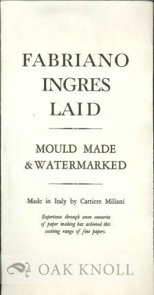 FABRIANO INGRES LAID: MOULD MADE & WATERMARKED