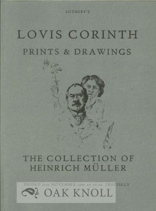 LOVIS CORINTH PRINTS AND DRAWINGS THE COLLECTION OF THE LATE HEINRICH MÜLLER
