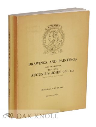 CATALOGUE OF DRAWINGS AND PAINTINGS FROM THE STUDIO OF THE LATE AUGUSTUS JOHN, O.M., R.A. Christie's