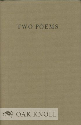 TWO POEMS. Richard Howard