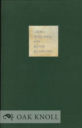 ARNO WERNER ON BOOKBINDING