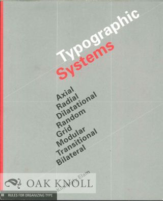 TYPOGRAPHIC SYSTEMS. Kimberly Elam.