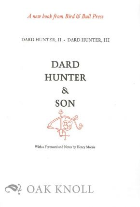 PROSPECTUS FOR THE LIFE WORK OF DARD HUNTER VOLUME II.