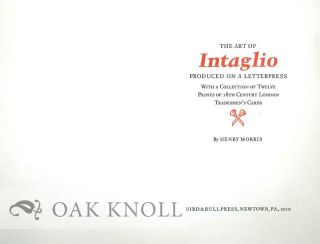 PROSPECTUS FOR THE ART OF INTAGLIO PRODUCED ON A LETTERPRESS