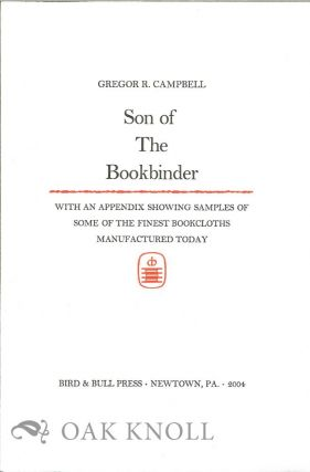 PROSPECTUS FOR SON OF THE BOOKBINDER