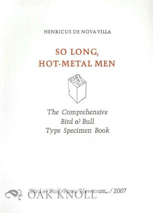 PROSPECTUS FOR SO LONG, HOT-METAL MEN.