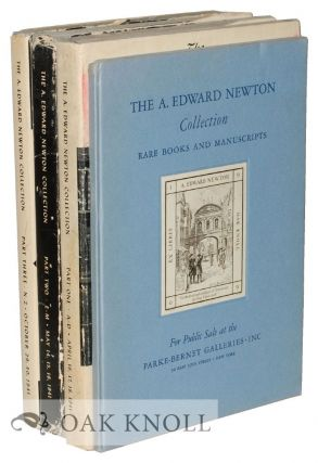 RARE BOOKS, ORIGINAL DRAWINGS, AUTOGRAPH LETTERS AND MANUSCRIPTS COLLECTED BY THE LATE A. EDWARD...