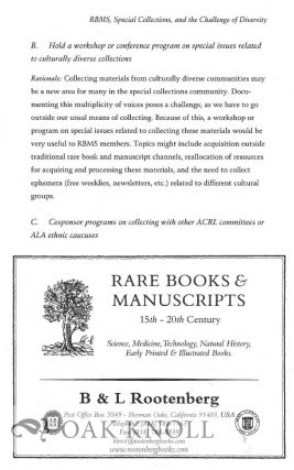 RBM: A JOURNAL OF RARE BOOKS, MANUSCRIPTS, AND CULTURAL HERITAGE.