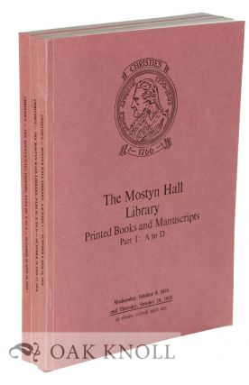 MOSTYN HALL LIBRARY, PRINTED BOOKS AND MANUSCRIPTS