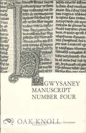 GWYSANEY MANUSCRIPT NUMBER FOUR