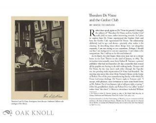 GAZETTE OF THE GROLIER CLUB, NEW SERIES, NUMBER 65, 2014.