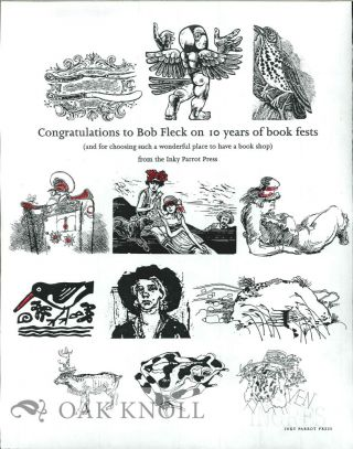 CONGRATULATIONS TO BOB FLECK ON 10 YEARS OF BOOK FESTS