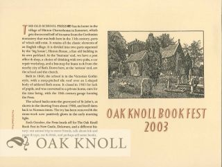 OAK KNOLL BOOK FEST 2003