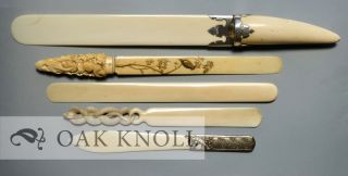 READING & WRITING ACCESSORIES: A STUDY OF PAPER-KNIVES, PAPER FOLDERS, LETTER OPENERS AND MYTHICAL PAGE TURNERS