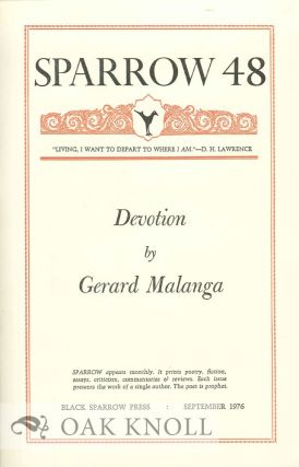 DEVOTION. SPARROW 48. Gerard Malanga