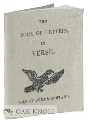 THE BOOK OF LETTERS, IN VERSE.