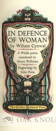 IN DEFENCE OF WOMAN, A WELSH POEM TRANSLATED BY GWYN WILLIAMS.