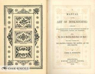 A MANUAL OF THE ART OF BOOKBINDING, CONTAINING FULL INSTRUCTIONS IN THE DIFFERENT BRANCHES OF...