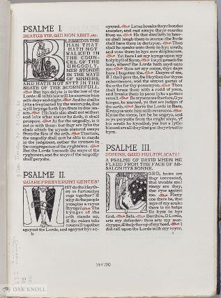 THE PRIVATELY PRINTED BIBLE: PRIVATE AND FINE PRESS PRINTINGS OF BIBLICAL TEXTS, 1892-2000