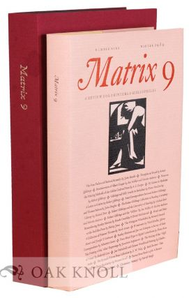 MATRIX 09: A REVIEW FOR PRINTERS AND BIBLIOPHILES